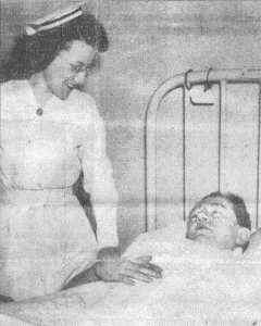 William in his hospital bed
