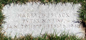 Harry's tombstone