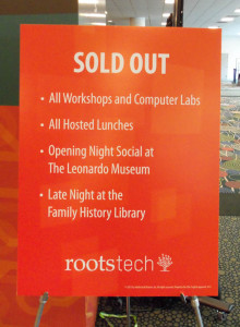 Sold Out sign at RootsTech
