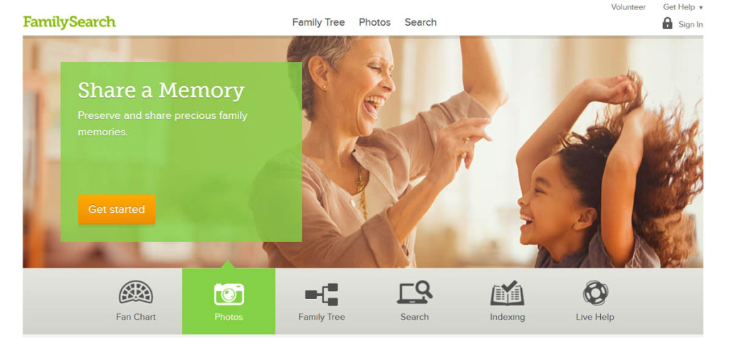 FamilySearch homepage