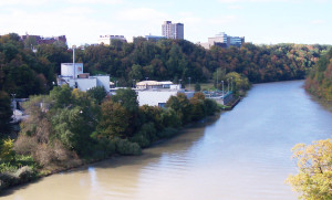 Kodak sewage treatment plant on Genesee River