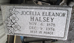 Grandma's tombstone