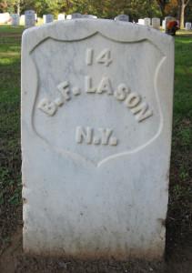 Benj. F. Lason tombstone
