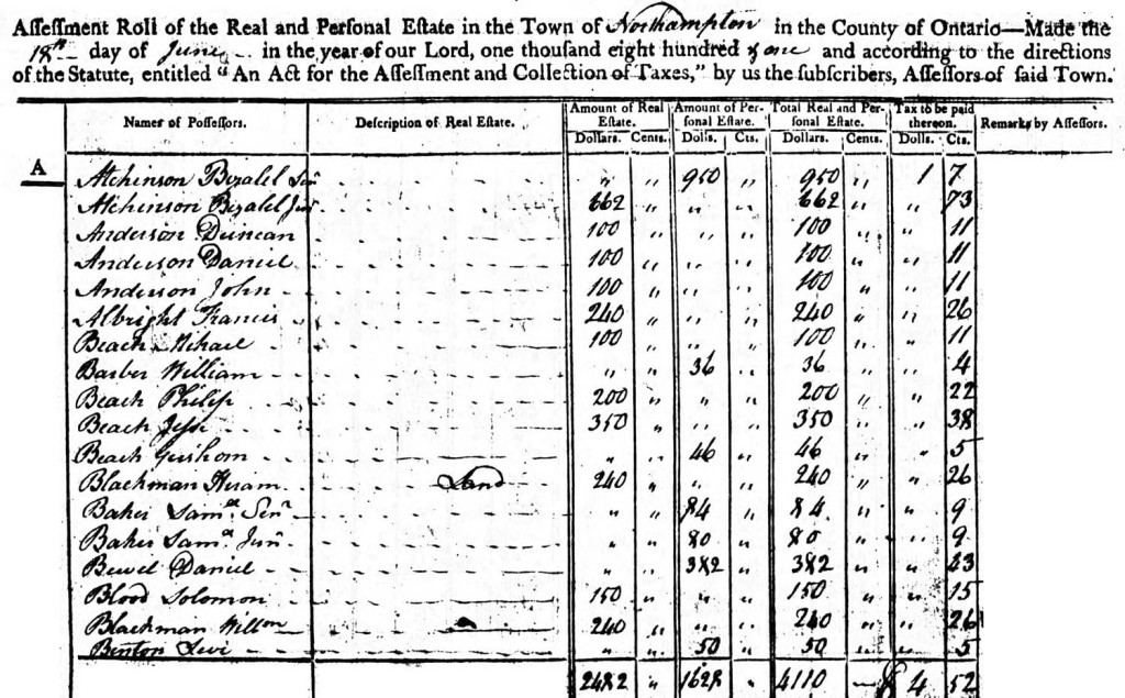 northampton-tax-1801