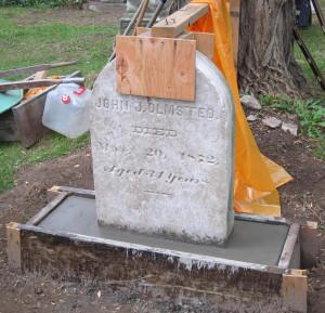 Tombstone restoration