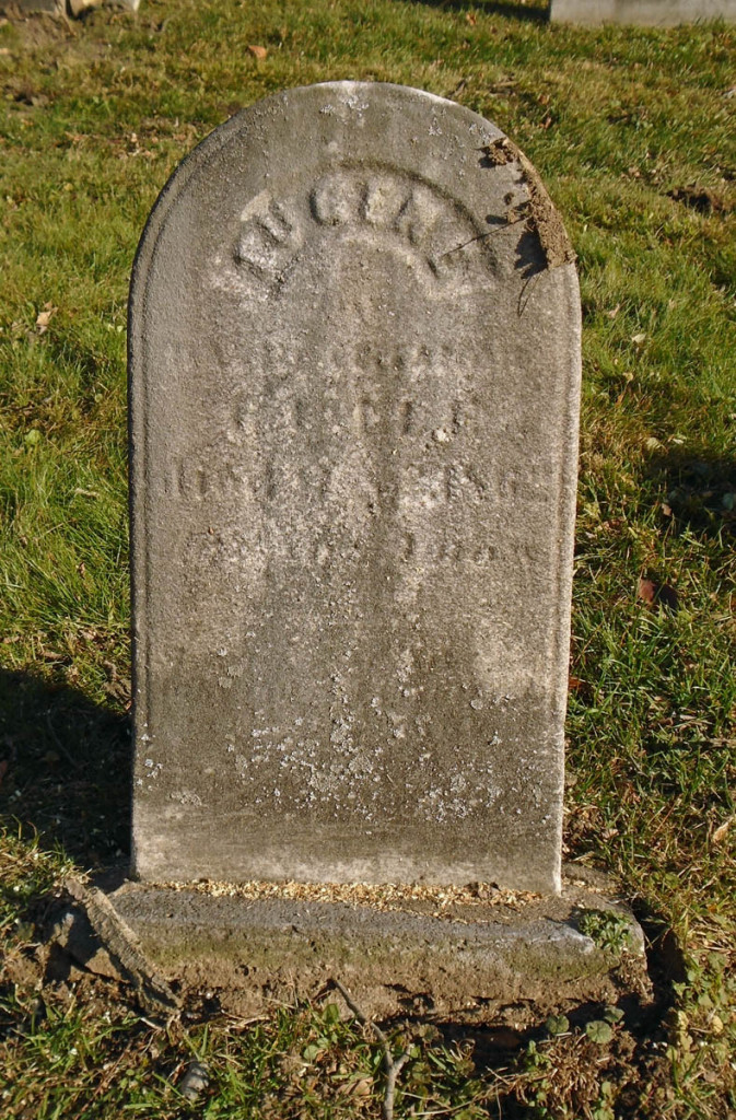 Eugene Guile; died March 3, 1862 aged 5 years