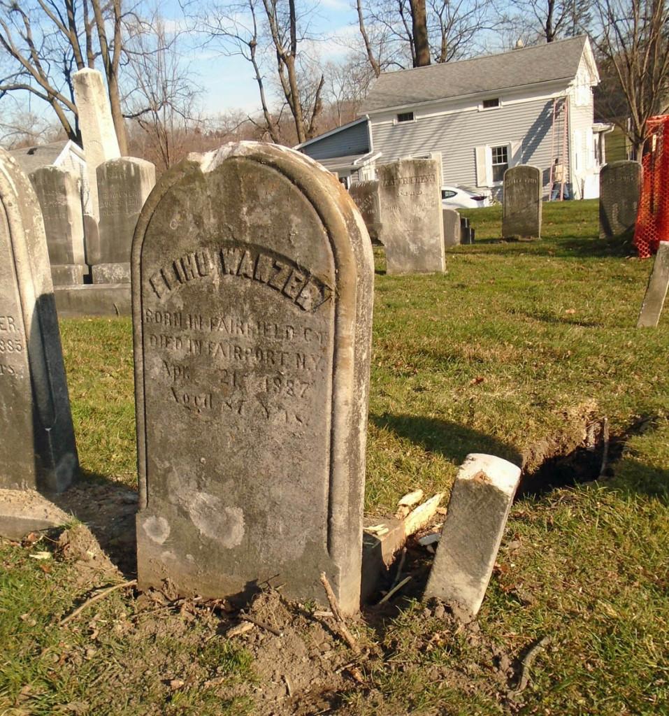 Elihu Wanzer; born in Fairfield, Ct.; died in Fairport, N. Y. Apr. 21, 1887 aged 87 yrs.